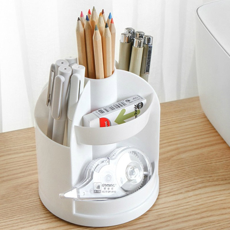 1Pcs Pen Holders Creative Multi-functional Solid Color Storage Tube