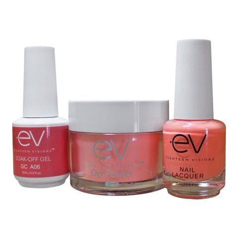 3in1 Gel + Dip Powder + Nail Polish matching set - A06