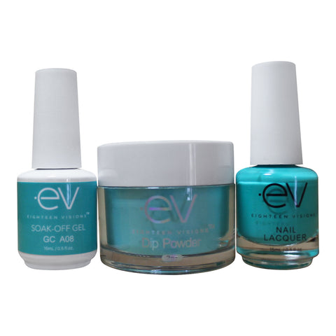 3in1 Gel + Dip Powder + Nail Polish matching set - A08