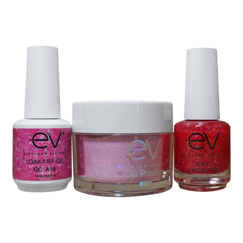 3in1 Gel + Dip Powder + Nail Polish matching set - A18