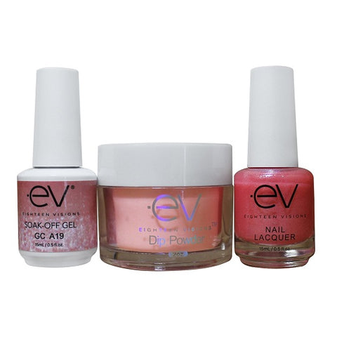 3in1 Gel + Dip Powder + Nail Polish matching set - A19