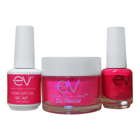 3in1 Gel + Dip Powder + Nail Polish matching set - A21