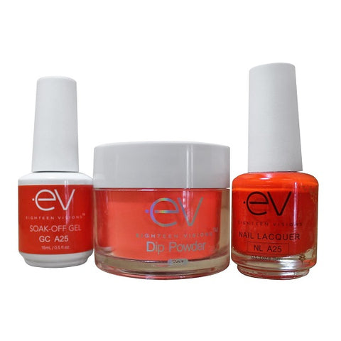 3in1 Gel + Dip Powder + Nail Polish matching set - A25