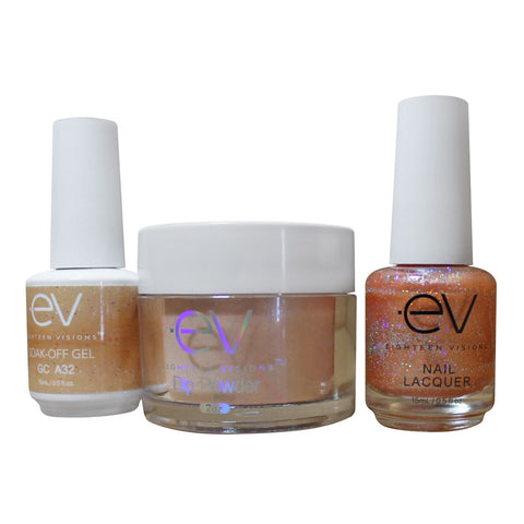 3in1 Gel + Dip Powder + Nail Polish matching set - A32