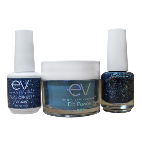 3in1 Gel + Dip Powder + Nail Polish matching set - A35