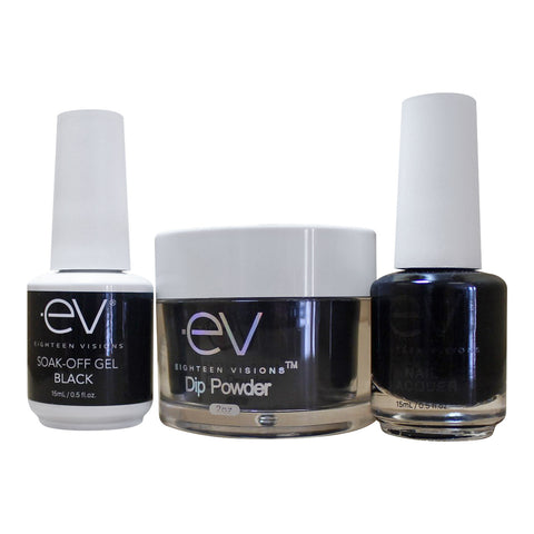 3in1 Gel + Dip Powder + Nail Polish matching set - BLACK