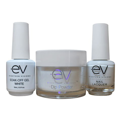 3in1 Gel + Dip Powder + Nail Polish matching set - WHITE