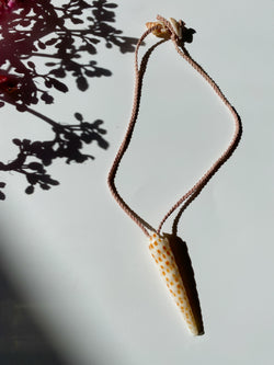 Kūkahi -Jumbo Tahitian Unicorn Shell Necklace