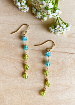 Apatite & Peridot Earrings
