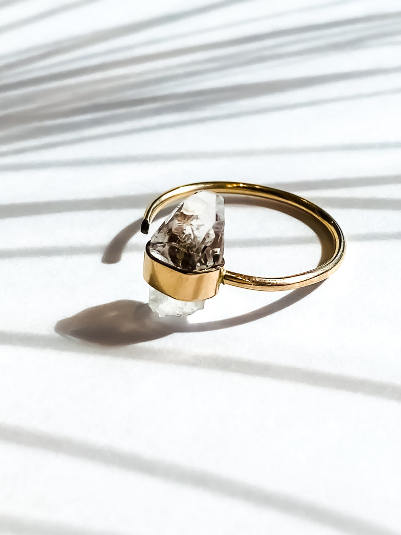Luxe Ring - Clear Quartz