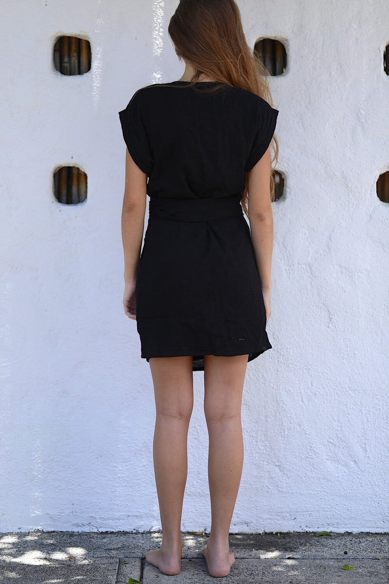 Anita Wrap Dress - Black