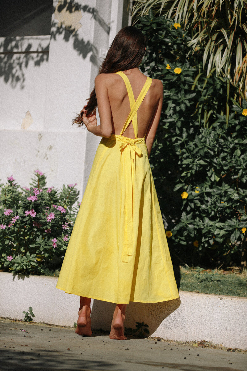 Donyale Dress - Lemon Sherbert