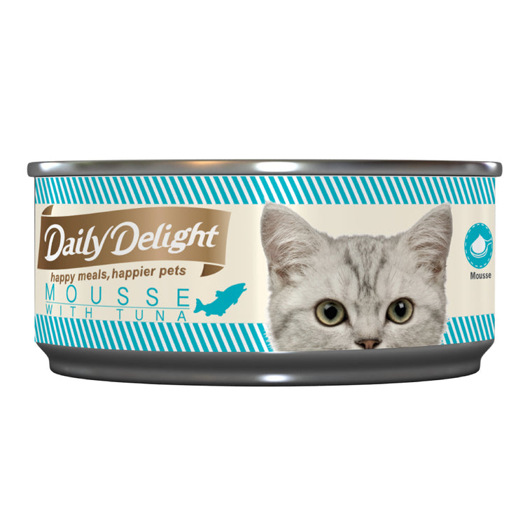 DAILY DELIGHT MOUSSE WITH TUNA - Canned Cat Food | 80G