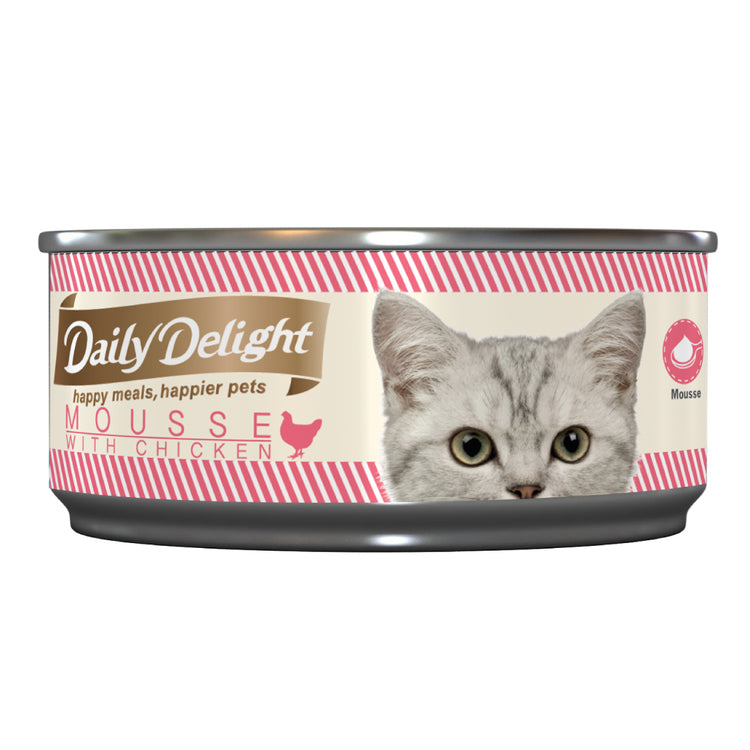 DAILY DELIGHT MOUSSE WITH CHICKEN - Canned Cat Food | 80G