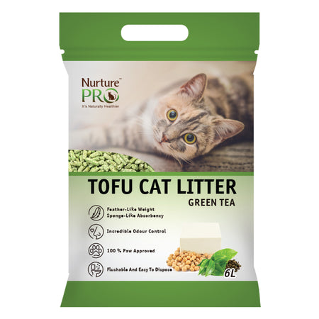 NURTURE PRO GREEN TEA Tofu Clumping Cat Litter | 6L