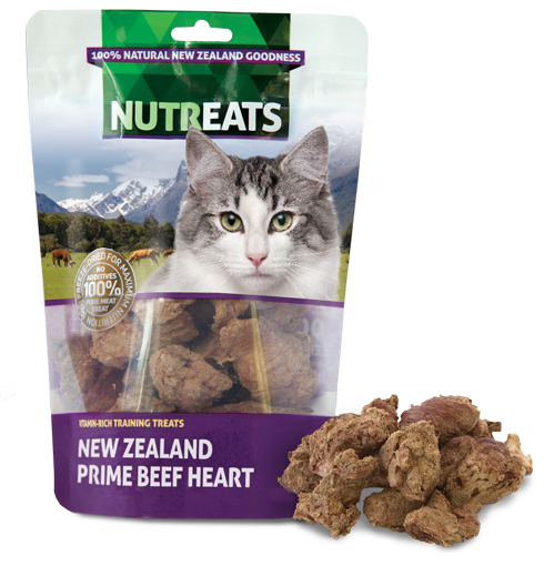 NUTREATS NEW ZEALAND PRIME BEEF HEART for Cats - 100% Natural Cat Treats | 50G