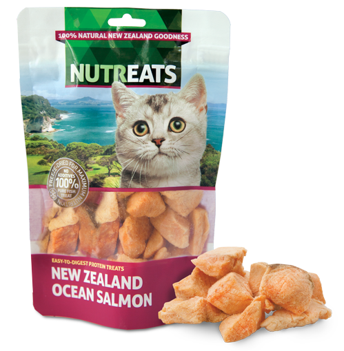 NUTREATS NEW ZEALAND OCEAN SALMON for Cats - 100% Natural Cat Treats | 50G