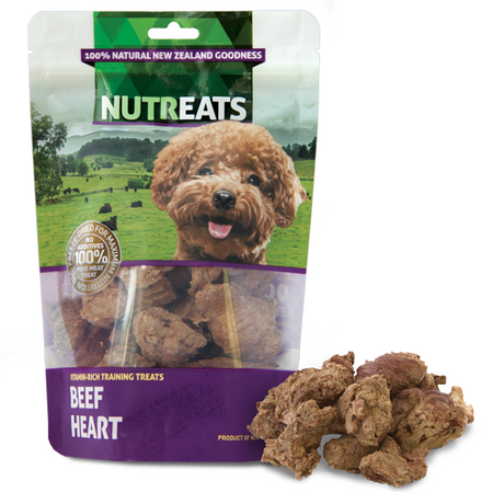 NUTREATS BEEF HEART for Dogs - 100% Natural Dog Training Treats | 50G
