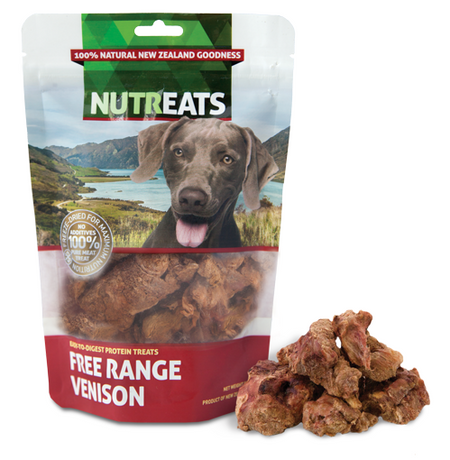 NUTREATS FREE RANGE VENISON for Dogs - 100% Natural Dog Treats | 50G