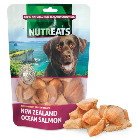 NUTREATS NEW ZEALAND OCEAN SALMON for Dogs - 100% Natural Dog Treats | 50G