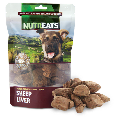 NUTREATS SHEEP LIVER for Dogs - 100% Natural Dog Treats | 50G