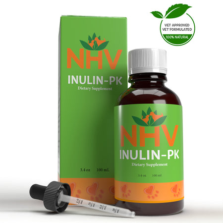 NHV INULIN-PK for Dogs, Cats, Rabbits and Reptiles - Dietary Supplement - 100ML