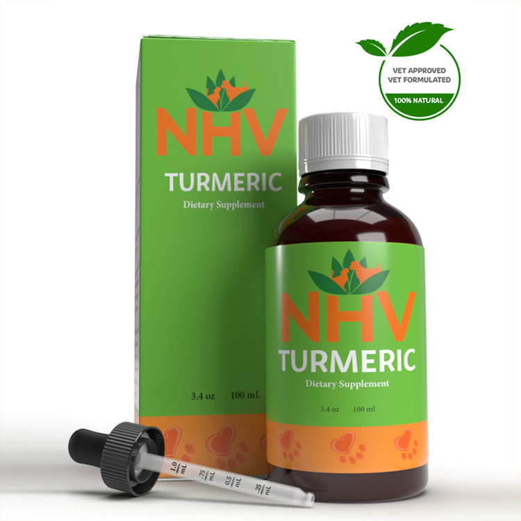 NHV TURMERIC for Dogs, Cats and Rabbits - Dietary Supplement - 100ML