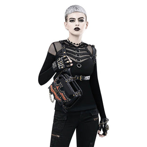 Punk Leather Hip Bag / Cross-body Bag / Shoulder Holster
