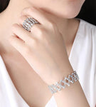[Lowest Price!] 925 Sterling Silver Folding Retractable Ring Bracelet
