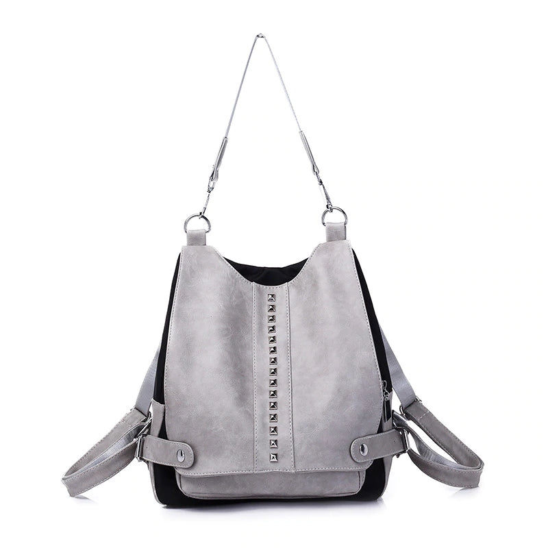 Women Leather Backpack High Quality Shoulder Bag