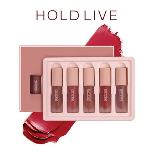 Holdlive Waterproof Matte Liquid Lip Gloss Set