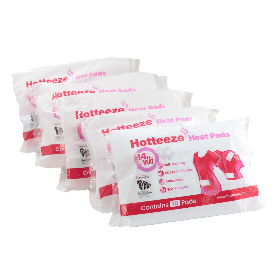 Hotteeze Heat Pads (50 pad VALUE PACK)