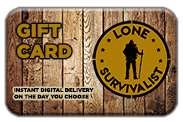 Lone Survivalist Gift Cards