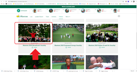2019 Masters Video Streaming