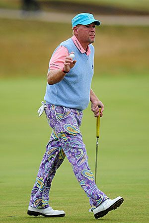 John Daly Pastel golf outfit
