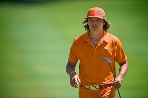 rickie fowler orange golf outfit