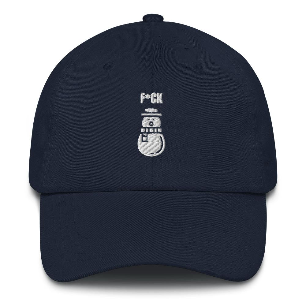 f snowmen navy dad hat