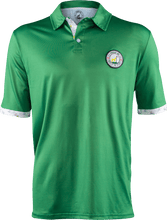 Load image into Gallery viewer, masters green contrast golf polo