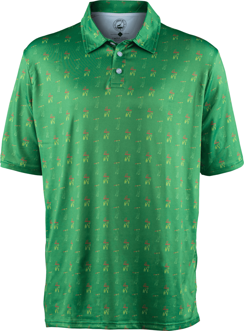 masters green golf polo