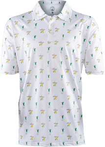 masters white golf polo