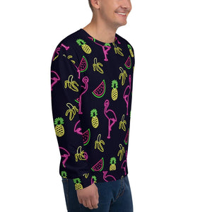 Neon Flamingo Crew Neck Pullover Proud 90