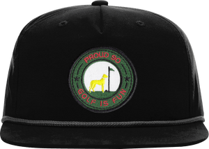 black green golf hat