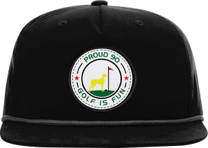 black white rope golf hat