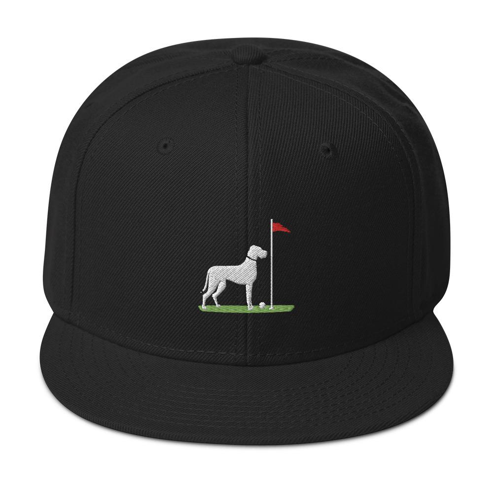 Big Dog Black Golf Hat