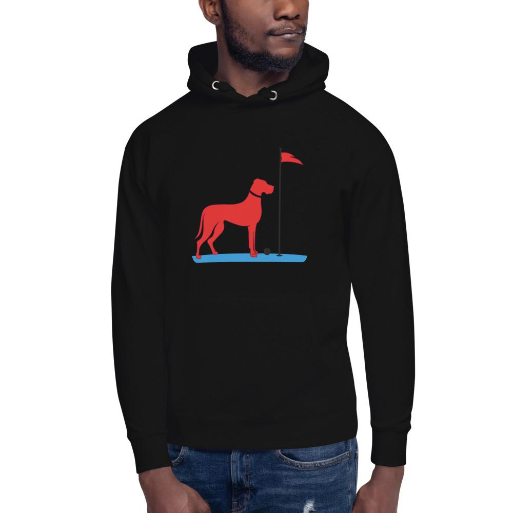 The Big RED Dog Hoodie Proud 90 Black S