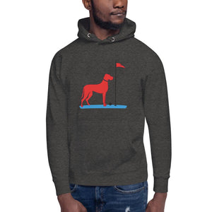 The Big RED Dog Hoodie Proud 90 Charcoal Heather S