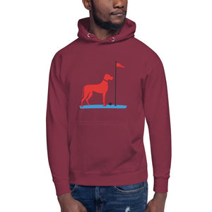 The Big RED Dog Hoodie Proud 90 Maroon S