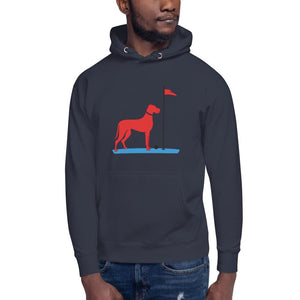 The Big RED Dog Hoodie Proud 90 Navy Blazer S