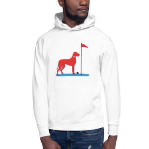 The Big RED Dog Hoodie Proud 90 White S