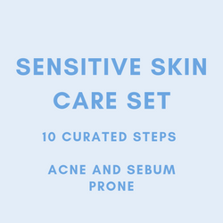 MEEKAH 10-Steps Sensitive(Acne + Sebum) Skin Set  - Korean Beauty - Meekah